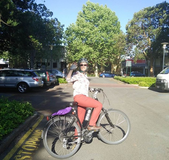 Alice - I rode to work and then hopped on the bike to a meeting in town..jpg